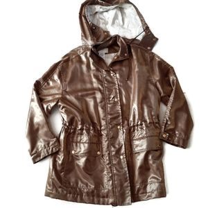 ST. JOHN beautiful gold outerwear hooded jacket